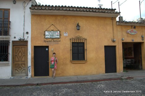 Gwatemala - Antigua, szkola hiszpanskiego