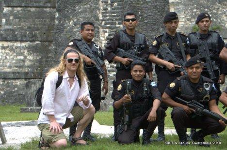 Tikal gwatemalska policja