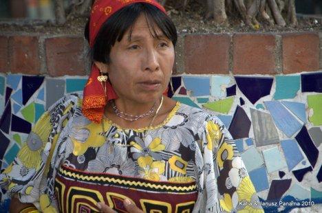 Panama Indianka z plemienia Kuna