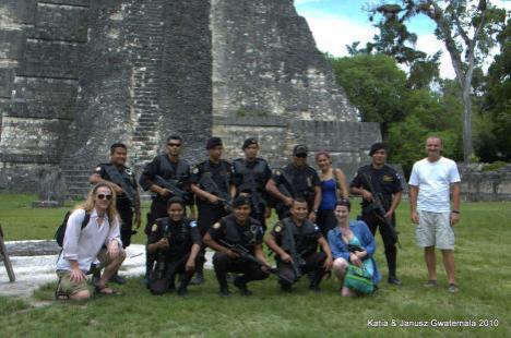 Gwatemala ruiny Tikal